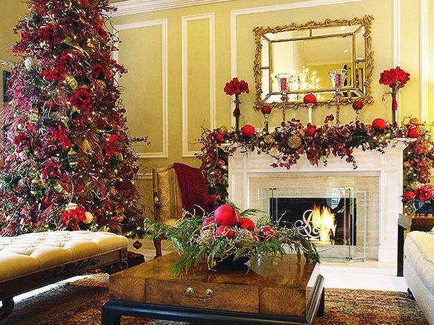 Merry christmas decorating ideas for living rooms and Christmas decorations interior design