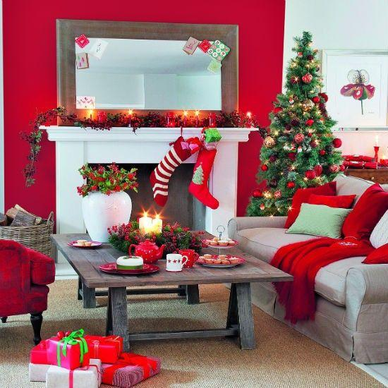 Decor Ideas For Living Rooms: Merry Christmas Decorating Ideas For Living Rooms And