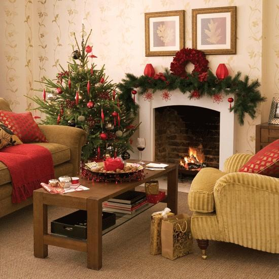 Traditional Living Rooms: Merry Christmas Decorating Ideas For Living Rooms And