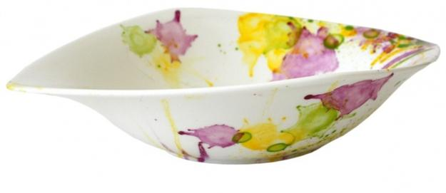 Modern tableware with colorful splashes  sc 1 st  Decor4all & White Tableware Designs with Beautiful Watercolor Splashes