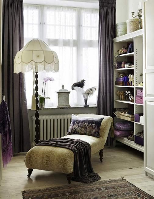 10 inspiring dressing room decorating ideas in vintage style for Dressing rooms designs
