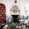 modern room decor in eclectic style and vintage details