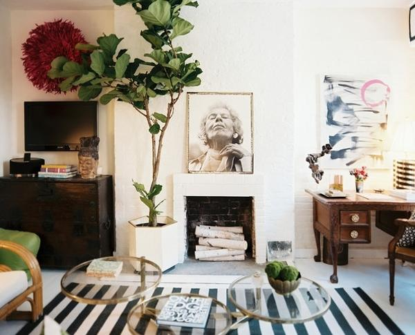 15 interior decorating ideas for modern rooms in eclectic - Red black and white themed living room ...