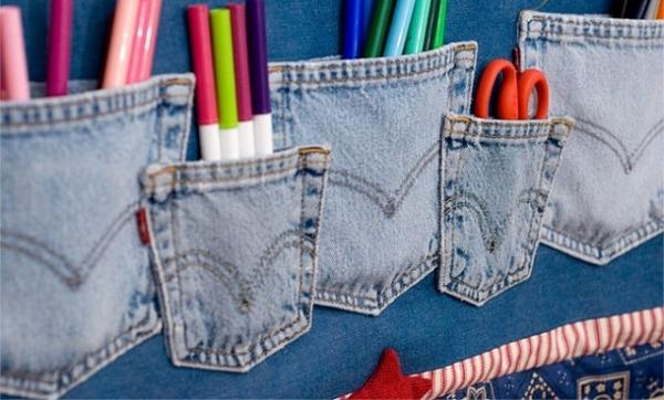 15 Craft Ideas To Recycle Jeans For Functional Furniture And Home