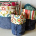 recycle and crafts, making furniture and home accessories with jeans