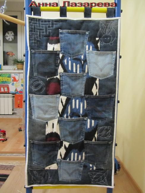 15 Craft Ideas To Recycle Jeans For Functional Furniture