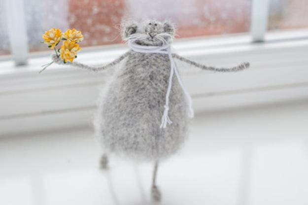 knitted rats, handmade gift ideas