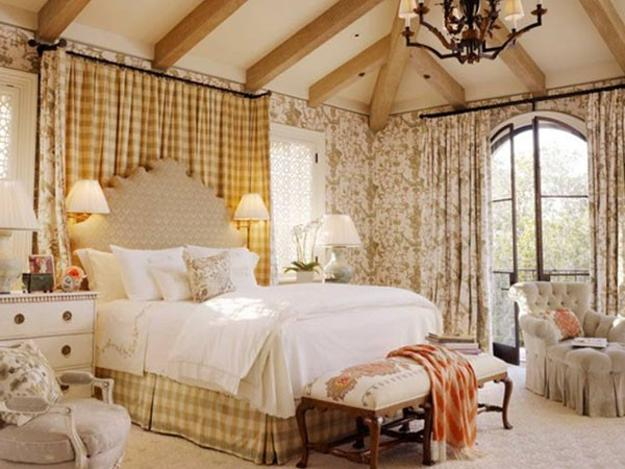 french style bedroom decorating ideas upholstered bed and floral