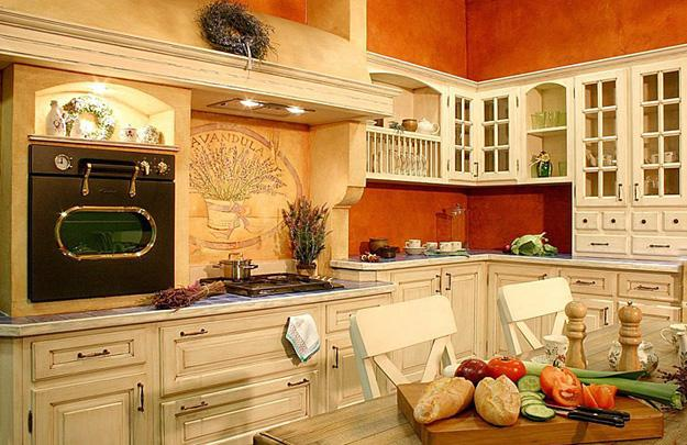 20 modern kitchens and french country home decorating - Green and orange kitchen ideas ...