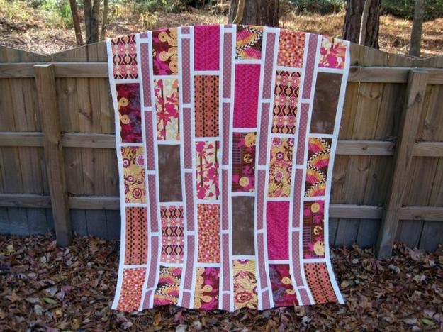 Unusual Quilting Ideas : Colorful Contemporary Quilts with Unique Striped Patchwork Designs