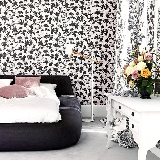 Black And White Modern Bedroom: 25 Bedroom Decorating Ideas To Use Bright Accents In Black