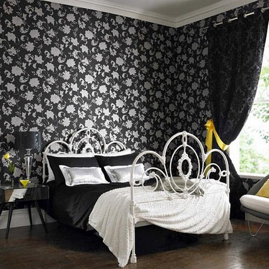 black white decorating ideas modern bedroom decor with black and white