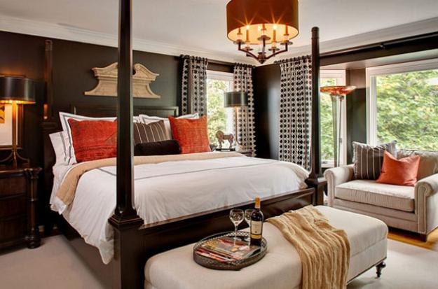 25 Bedroom Decorating Ideas To Use Bright Accents In Black