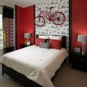 modern interior decorating with black and white color combinations and colorful accents, modern bedrooms