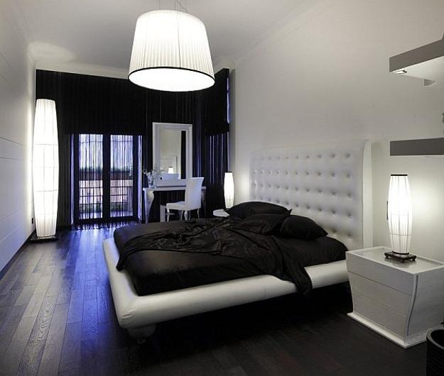 25 bedroom decorating ideas to use bright accents in black Black and white bedroom decor