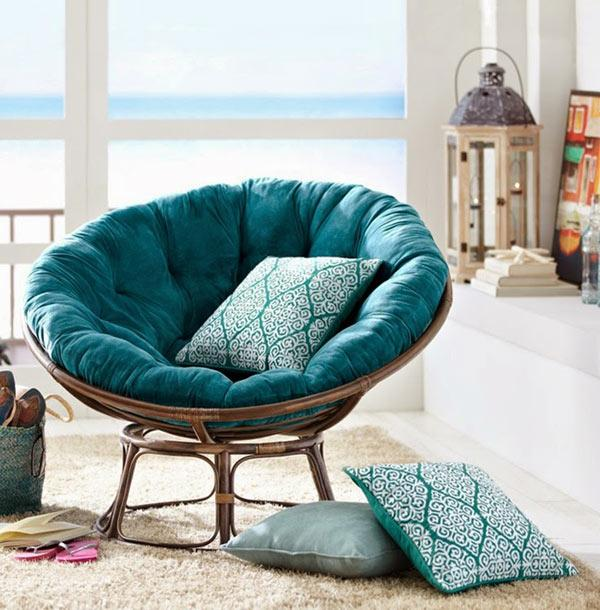 30 Cozy Ideas For Modern Home Decorating With Papasan Chairs