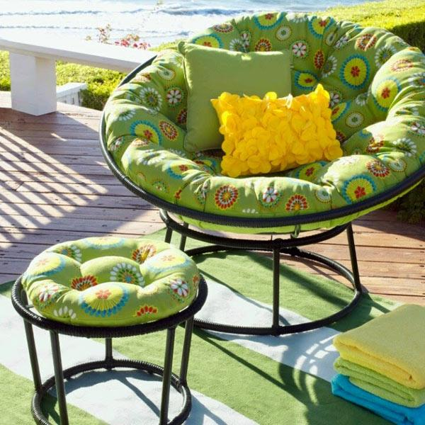 Genial Modern Outdoor Furniture, Home Decorating With Papasan Chairs