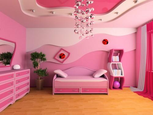 Modern interior decorating with pink color combinations for Room design ideas pink