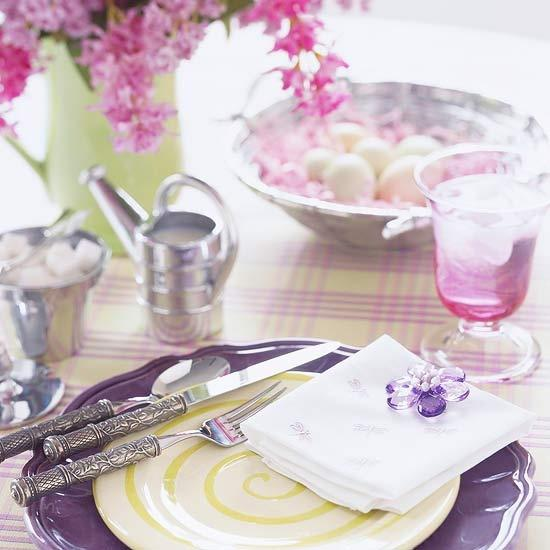 Purple Pink And Green Color Combinations For Easter Table