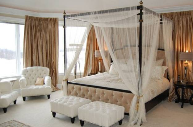 bedroom furniture, beds with canopy