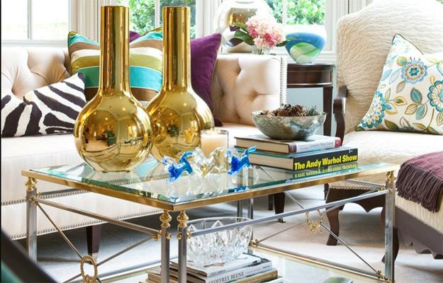 Glass Coffee Table Decoration Ideas, Green Plants And Flower Arrangement Part 87