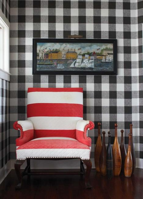 vichy check fabric patterns and country style decor ideas