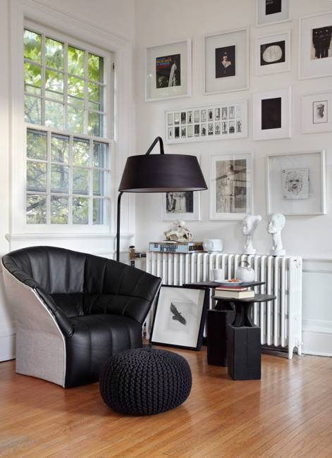 Modern Interior Decorating Ideas In Eclectic Style Black White And