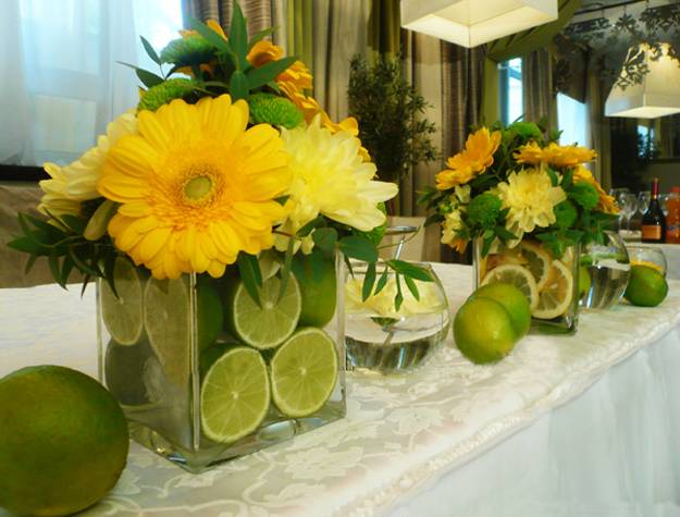 15 colorful floral arrangements with lemons creating. Black Bedroom Furniture Sets. Home Design Ideas