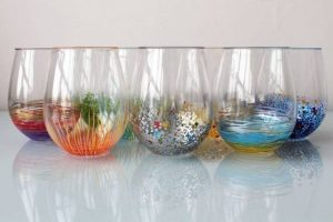colorful and simple glass painting designs
