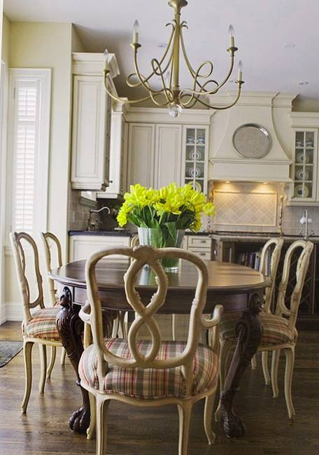 Kitchen decor and dining room decorating ideas in provencal style