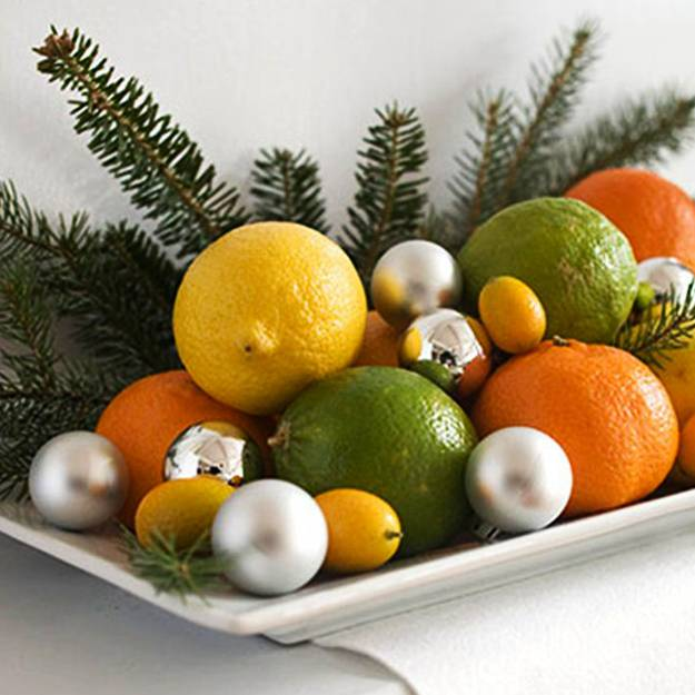 Warm Yellow Color Of Lemons And Bright Christmas Decorating Ideas
