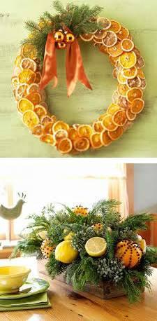 Warm Yellow Color Of Lemons And Bright Christmas