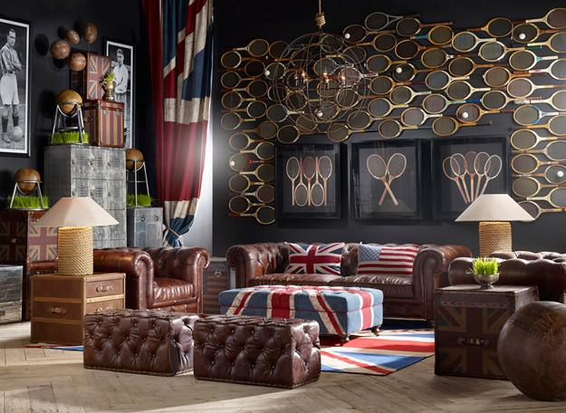 Creative Spectacular And Modern Interior Decorating With English Symbols