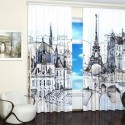 modern window treatments, curtains and blinds with digital art prints