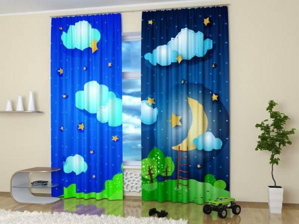 digital print curtains, kids decor accessories