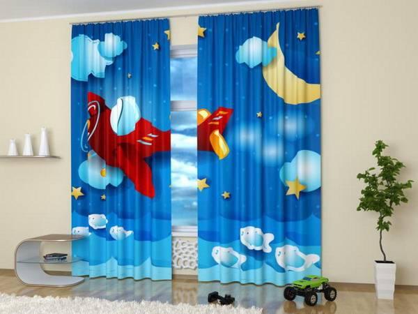 Custom Photo Curtains Adding Digital Prints to Kids Room Decorating