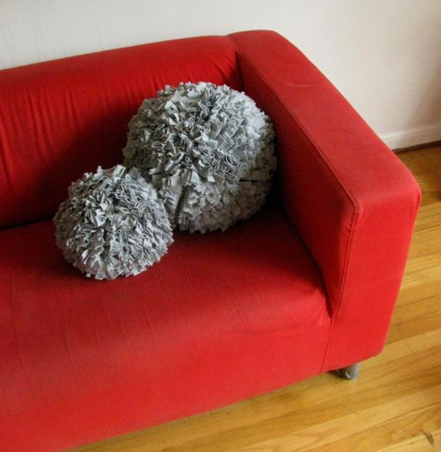 decorative accessories made with pompons