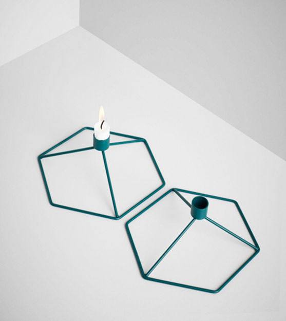 decorative accessories, metal wire candle holders