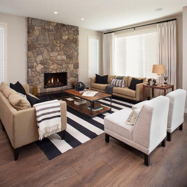 Floor Rugs And Carpets With Wide Stripes, 25 Interior