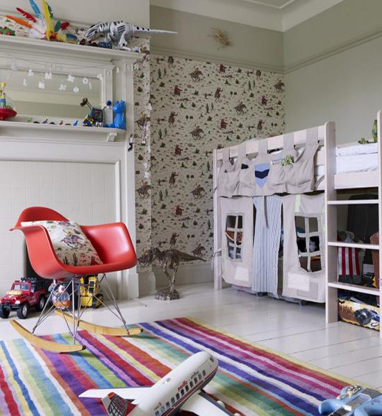 Colorful Kids Room Design: Modern Ideas For Interior Decorating With Colorful Striped