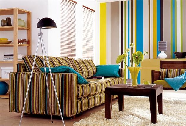 Modern Room Decor With Vertical Stripes 20 Room