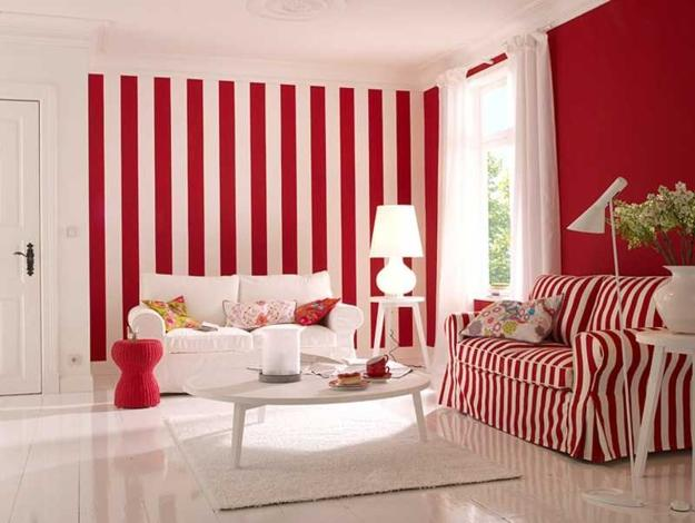 Modern Room Decor with Vertical Stripes, 20 Room Decorating Ideas
