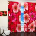 modern window coverings, curtain fabric with beautiful pictures of flowers