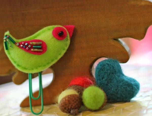 handmade decorations and felt crafts