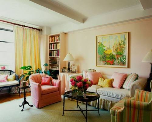 How To Match Decor Colors For Bright And Modern Living Room Decorating,  Striped Upholstery Fabrics And Decorative Pillows In Matching Colors Part 84