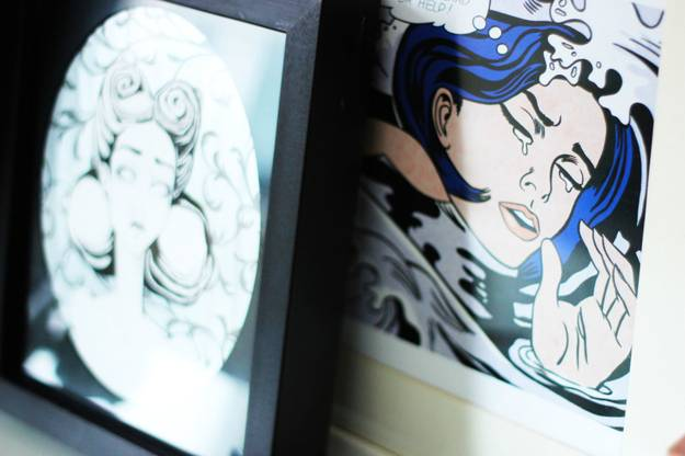 eclectic decor ideas and home accents created with comics prints