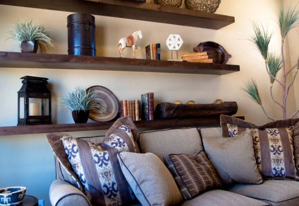 storage shelves and modern room decor ideas