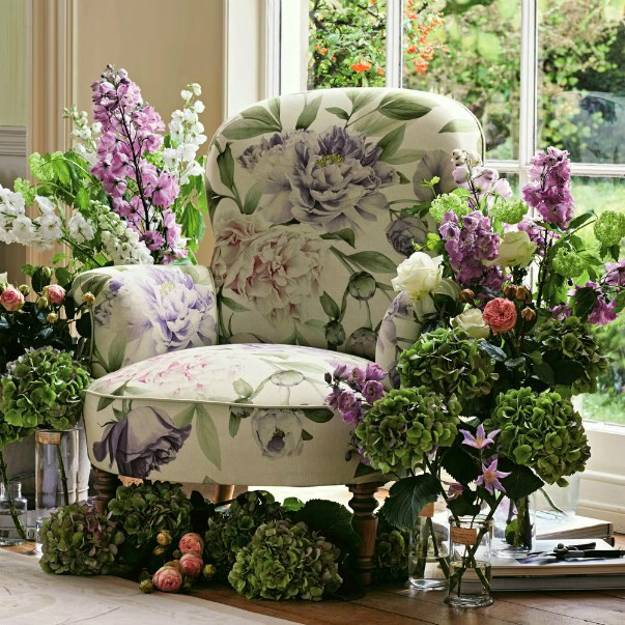 floral designs, textiles and modern wallpaper