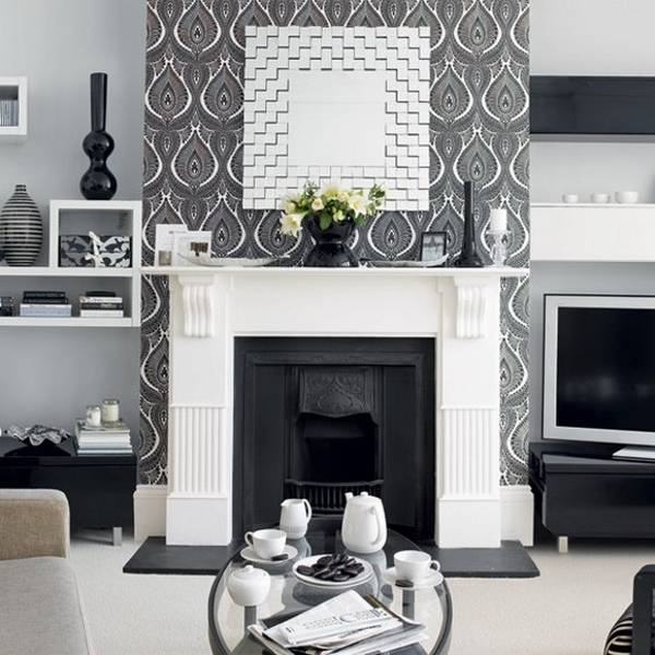 retro wallpapers and modern room decorating ideas