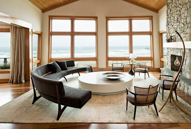 Round Out Room Decor with Modern Round Sofa, 25 Furniture Placement ...